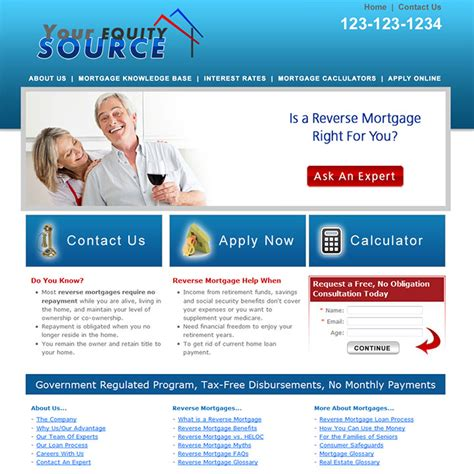 Reverse Mortgage Website Templates Mortgage Loan Officer Website Templates