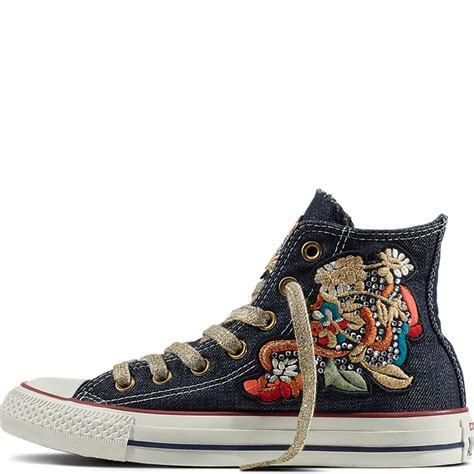 Patchwork Converse - chuck all flower patchwork denim converse it