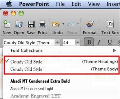 tutorial powerpoint mac 2008 theme fonts in powerpoint 2008 for mac powerpoint tutorials