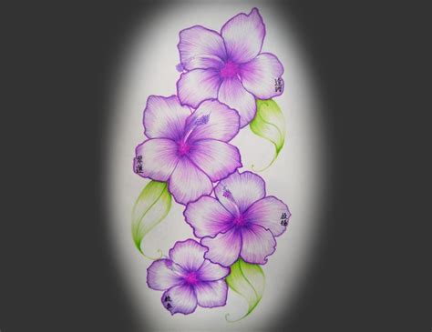 hawaiian flowers tattoo design tattoos book 65 000