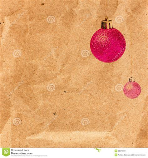 Background Papers For Card - vintage card with glittering balls on