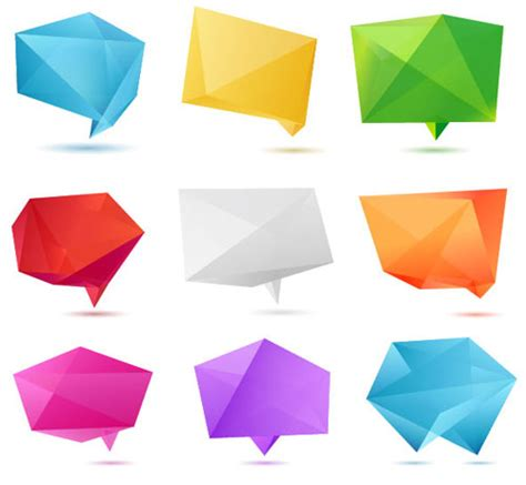 Designs Origami 2 - 100 free vector origami design elements designfreebies