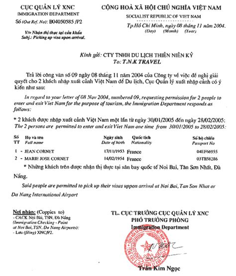 Sle Letter For Visa On Arrival Visa On Arrival Tnk Travel