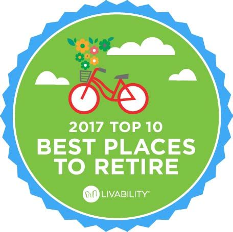 best place to find a new job livability com names the 10 best places to retire 2017