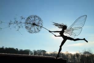 Wind Art Spectacular Fairy Sculptures Made Of Wire By Robin Wight