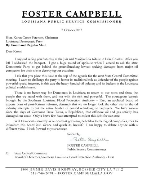 Lawsuit Letter Bananas Foster S Interesting Flood Lawsuit Letter To Peterson
