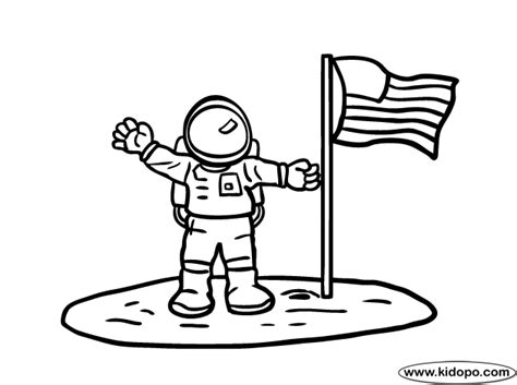 astronaut hat coloring page 4th of july usa astronaut coloring page
