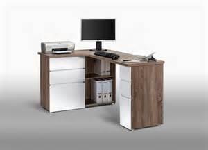 bureau informatique d angle contemporain avec rangement