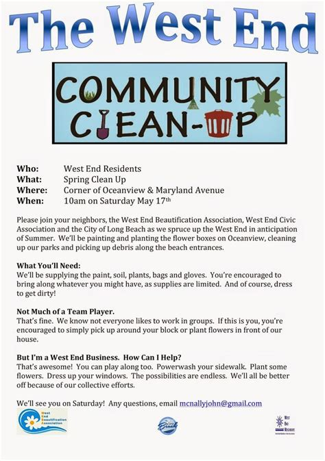 neighborhood clean up flyer template google search won