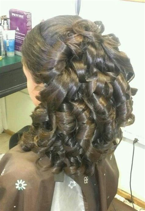 pulled   side  big barrel curls great  prom