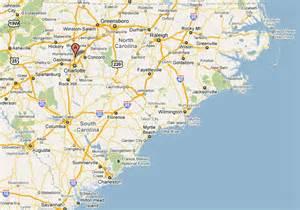 Charlotte nc on us map