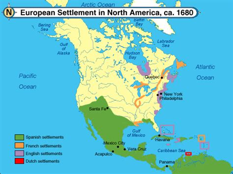 Pattern Of French Settlement In North America | colonies