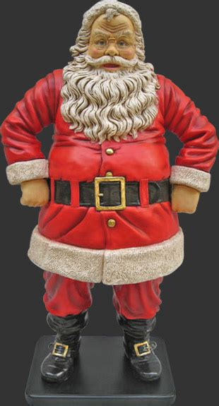 jolly santa statue 4ft