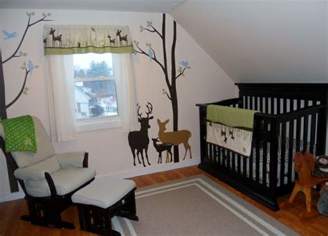 our deer themed nursery baby outdoor theme nursery - Outdoor Themed Baby Room