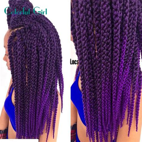 ombre marley hair purple 3d cubic crochet braids ombre burgundy purple ombre