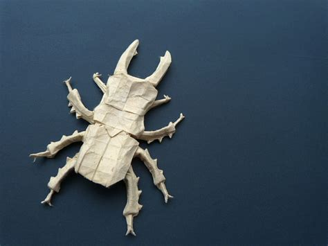 Origami Stag Beetle - i c ant believe how complex and realistic these origami
