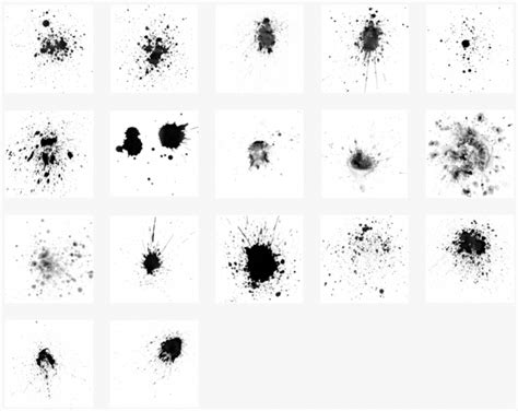 photoshop brushes free hi res splatter photoshop brush set