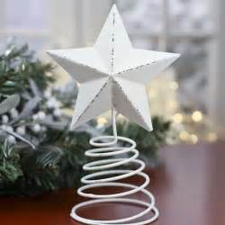 white washed barn star tree topper christmas trees and