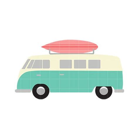 volkswagen with surfboard clipart surfboard home vehicles transportation with