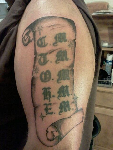 tattoo paper name 20 excellent scroll tattoos allnewhairstyles com