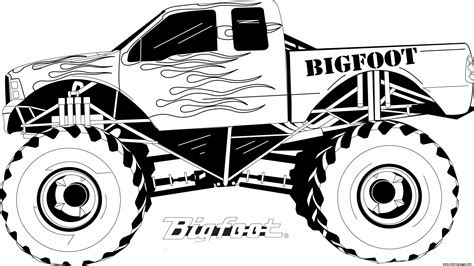 bigfoot truck coloring pages truck bigfoot big coloring pages printable