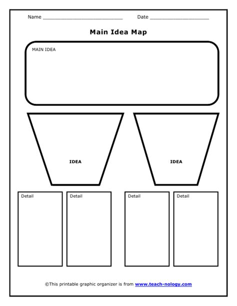 idea sheet template idea worksheets printable finding the idea
