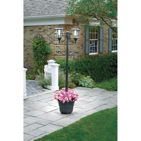 outdoor l posts base sunergy solar l post with planter base 50400356