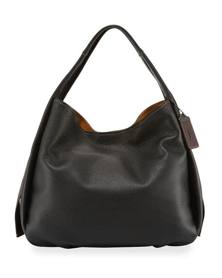 Coach 1941 Pebbled Leather Bag by Coach 1941 Pebbled Leather Hobo Bag Black