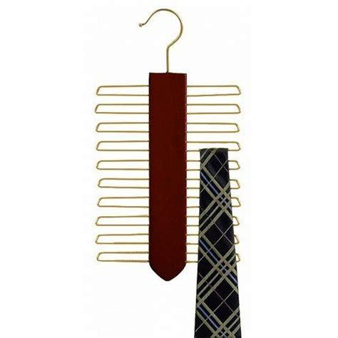 Tie Hanger - wooden tie hanger vertical walnut brass product