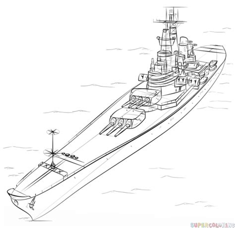 how to draw a boat with shapes how to draw a battleship step by step drawing tutorials