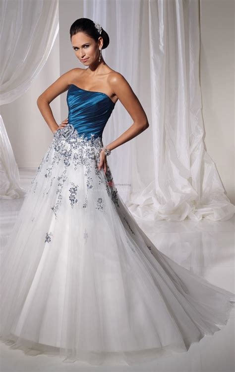 White Wedding Dresses by Blue And White Wedding Dresses A Trusted Wedding Source