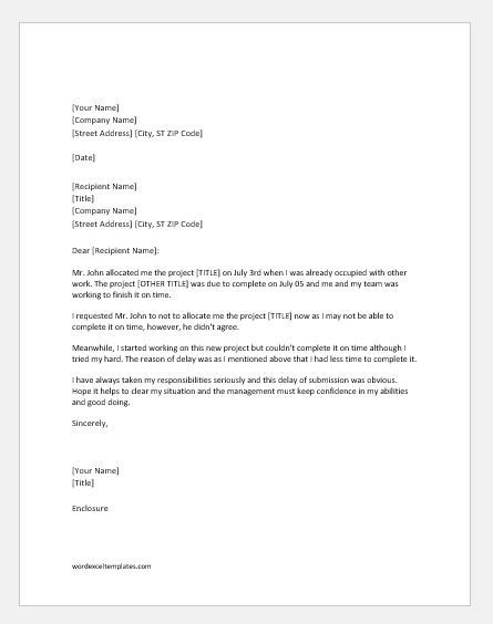 sle explanation letter for late of reports apology letter for late of project word