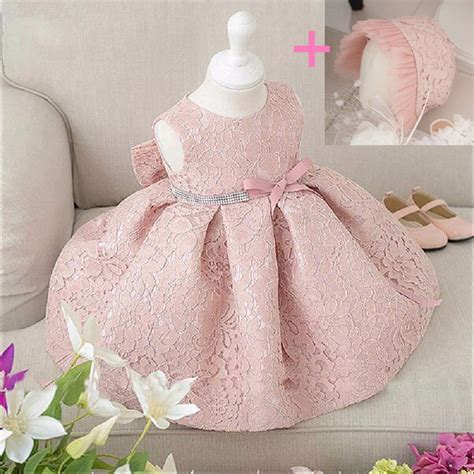Q483 Baby Pink Birthday Tulle Dress dress baby 2017 summer fashion pink lace big bow tulle flower princess