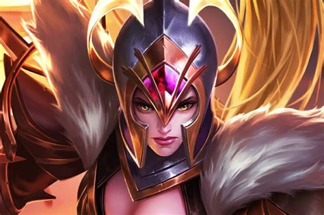 wallpaper mobile legend freya war angel background wallpaper