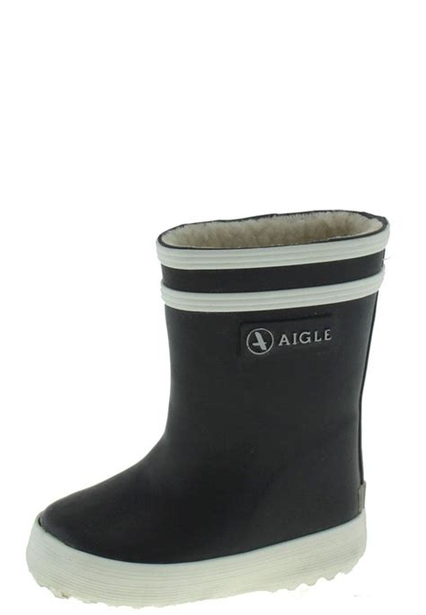 aigle baby flac fur baby flac fur marine infants rubber boots by aigle