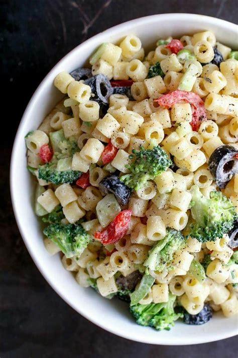 creamy pasta salad recipes 10 perfect pasta salads for summer recipes tip junkie