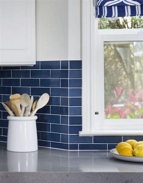 blue subway tile backsplash remodelaholic 25 great kitchen backsplash ideas