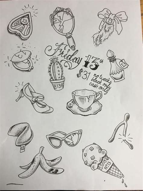 atomic tattoos friday the 13th custom friday the 13th flash sheet done by kristen
