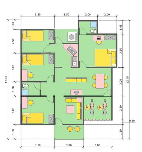 denah rumah minimalis ukuran 6x10 rumah minimalis