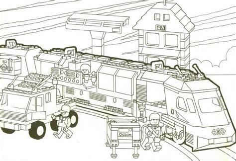 12 dessins de coloriage lego city train 224 imprimer