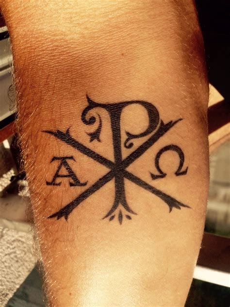 catholic tattoos chi rho tattoveringsinspirasjon chi