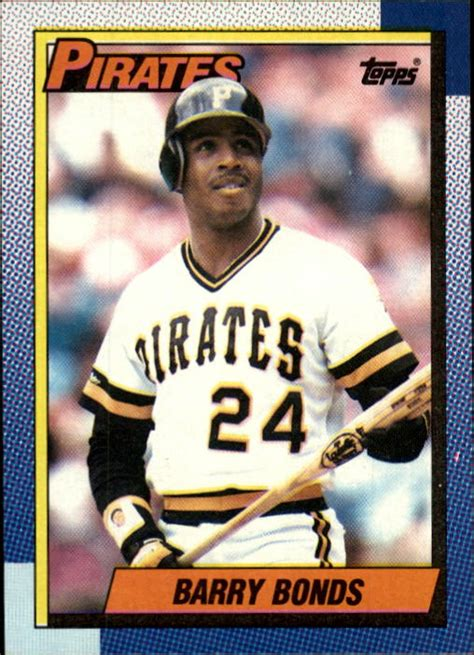 1987 Topps Baseball Card Template by Barry Bonds Rookie Card Poque Cards