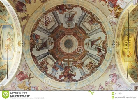 baroque ceiling madonna del sasso baroque ceiling royalty free stock