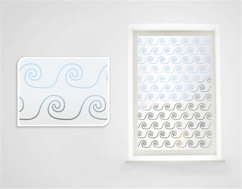 wall stickers nz west coast waves frosted window your decal shop nz