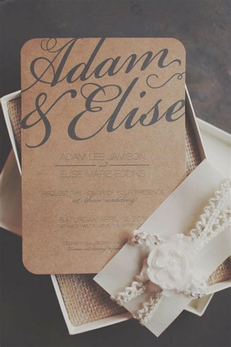 country elegance wedding invitations top 15 popular rustic wedding invitaitons idea sles on