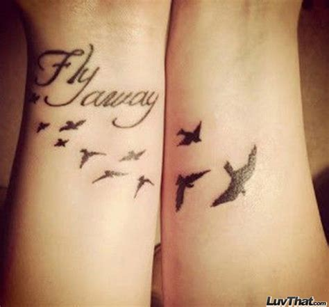 tattoo of birds flying away birds flying away