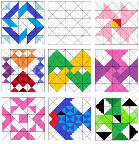 pattern with triangle easy triangle quilting patterns