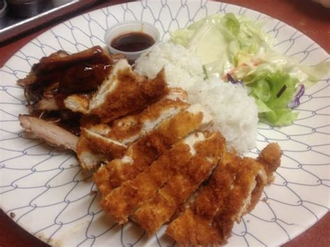 Chicken Katsu Teriyaki chicken teriyaki with chicken katsu combo yelp