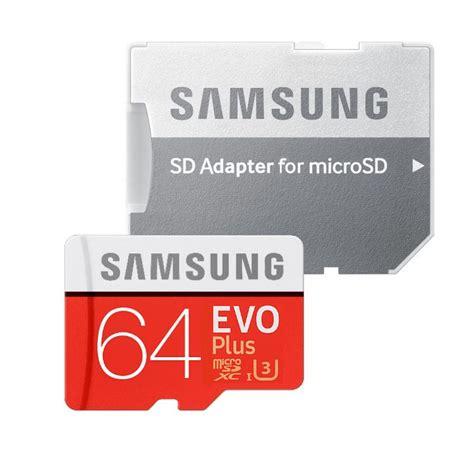 Microsd Samsung Evo Plus Class 10 Uhs I 80mb S 16gb samsung micro sdxc evo plus 64gb 2017 sd adapter uhs i u3 class 10 sebess 233 g 100 60 mb s