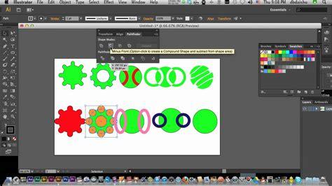 tutorial illustrator pathfinder illustrator cs6 introduction to the pathfinder tool youtube